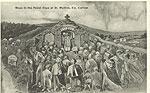 Carlow - St Mullins - Penal Days Mass (old b/w Irish photo)