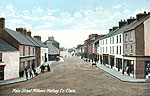 Clare - Miltown Malbay - Main St (old b/w Irish photo)
