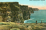 Clare - Cliffs of Moher - Cliffs (old colour Irish photo)