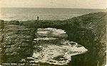Clare - Ross - Natural Bridge at Ross (outer bridge) (old b/w Irish photo)