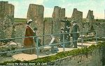 Cork - Blarney - Kissing the Blarney Stone (old colour Irish photo)