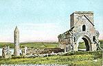 Fermanagh - Devinish Island - Antiquities Devenish Island Lough Erne (old colour Irish photo)