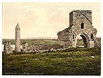 Fermanagh - Devinish Island ruins (old Ireland photochrome image)