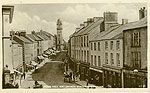 Fermanagh - Enniskillen - Town Hall and Church Street (old b/w Irish photo)