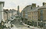 Fermanagh - Enniskillen - Town Hall and Church Street (old colour Irish photo)