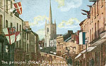 Fermanagh - Enniskillen - The principal street (old colour Irish photo)