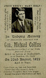Michael Collins - Memorial Card