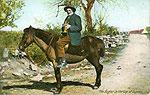 Kerry - Dunloe - Bugler in the Gap of Dunloe (old colour Irish photo)