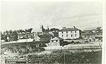 Leitrim - Carrick-On-Shannon - Town view (old b/w Irish photo)