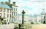 Monaghan - Clones - The Old Cross & Diamond (old colour Irish photo)