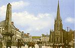 Monaghan - Monaghan Town - Church Square (old colour Irish photo)