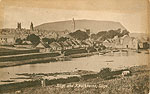 Sligo Town - Sligo and Knocknarea (old b/w Irish photo)