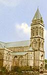 Sligo Town - The Cathedral (old colour Irish photo)