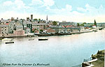 Westmeath - Athlone - from the Shannon (old colour Irish photo)