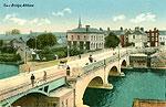 Westmeath - Athlone - town bridge (old colour Irish photo)
