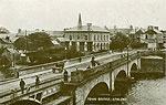 Westmeath - Athlone - Main Bridge (old b/w Irish photo)