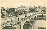 Westmeath - Athlone - Town Bridge b/w (old b/w Irish photo)