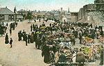 Westmeath - Athlone - Market Day (old colour Irish photo)