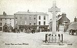 Westmeath - Athlone - Market Place & Cross (old b/w Irish photo)