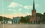 Westmeath - Castlepollard - The Square (old colour Irish photo)
