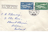Ireland 1961 Aer Lingus FDC Plain cover