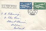 Ireland 1961 Aer Lingus FDC Plain cover (Ireland