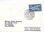 Ireland 1961 Aer Lingus FDC Single stamp (first day)