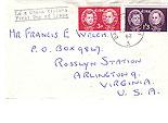 Ireland 1962 Fdc Scholars (Handwritten address)