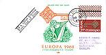 Ireland 1968 FDC Europa harp 7p stamp