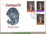 Ireland 1981 Fdc Christmas First Day Cover (whyte)