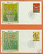 Ireland 1981 Fdc Europa: 2 Silk Cachets (colorano)