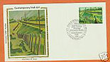 Ireland 1981 Fdc Wiilliam Leech Silk Cachet (colorano)
