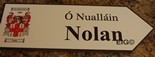 NOLAN Coat of Arms on Wooden Sign
