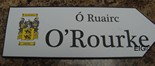 OROURKE Coat of Arms on Wooden Sign