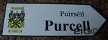 PURCELL Coat of Arms on Wooden Sign