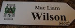 WILSON Coat of Arms on Wooden Sign