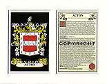 Acton Family Crest and Name History