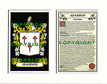 Adamson Family Crest and Name History