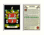 Alcock Family Crest and Name History
