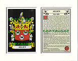Allen Family Crest and Name History