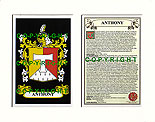 Anthony Family Crest and Name History