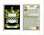 Arden Family Crest and Name History