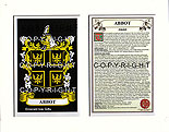 ABBOT to ARDERN Family Crest and Name History