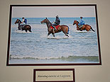Horses exercising on Laytown Beach