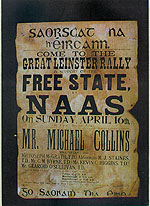 Free State Rally Poster Michael Collins (Pro-Treaty meeting)