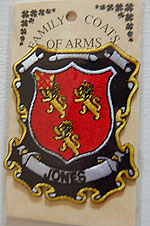 Jones Embroidered Patch - Coat of Arms