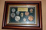 Framed 8 Coin Set Irish Coins 1939 - 1969