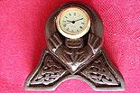 Claddagh Celtic Miniature Clock (Handcarved Irish Turf Peat)
