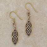 Irish Celtic Bronze Earrings