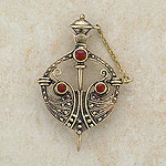 Studded Celtic Bronze Brooch